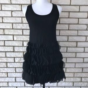 Nanette Lepore Dress Black Ruffle Sleeveless